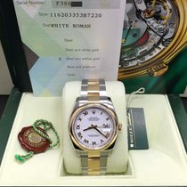Rolex Datejust 116203 18k Yellow Gold & Stainless Steel White...