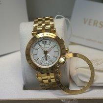 Versace Chronograph 42mm Quarz neu Silber