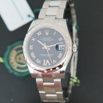 Rolex Datejust 31mm Bombé Diamonds Purple Dial NEW 178344