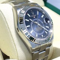 Rolex Steel Automatic Blue 42mm new Sky-Dweller