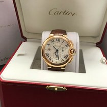 Cartier Ballon Bleu 44mm pre-owned 46mm Silver Chronograph Date Leather