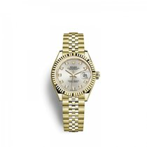 Rolex Lady-Datejust Or jaune 28mm Argent