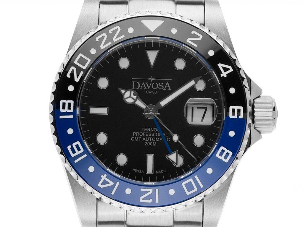 298€ Stahl Professional 1 Davosa Box Keramik 42mm Set Armband Ternos Tt Gmt Automatik amp;papFull Blau Neu Mit Zertifikat Über Diver Schwarz bf76gy