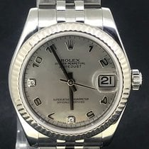 Rolex Lady-Datejust Or/Acier 31mm Nacre Arabes