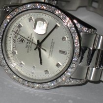 Rolex Day-Date 36 White gold 36mm Silver No numerals United States of America, New York, NEW YORK CITY