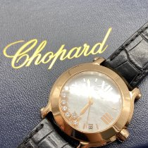 Chopard Happy Sport Or rose 36mm Blanc Romain France, Paris
