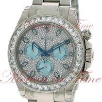 Rolex Cosmograph Daytona, Diamond Ice Blue Dial, Baguette...
