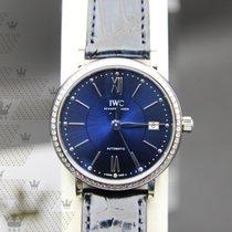 萬國 IW458111   Portofino Blue Dial Alligator  Automatic