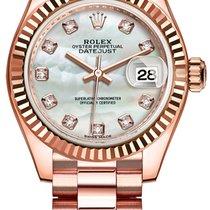 Rolex Lady Datejust 28mm Everose Gold 279175 MOP Diamond...