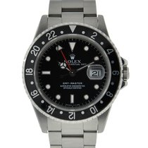 Rolex Oyster Perpetual Gmt Master Stainless Steel Black Dial...