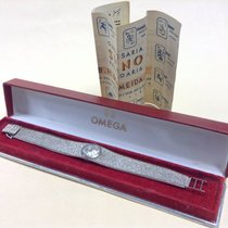 Omega de Ville Ladies' Vintage White Gold Watch, Caliber 485