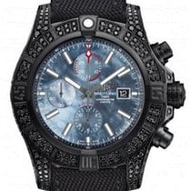 Breitling Super Avenger II   Black steel Diamonds (Limited)