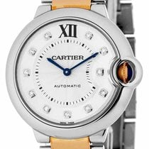 Cartier Ballon Bleu DIA Women 18kt Rose Gold Two-Tone Watch...