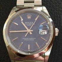 Rolex Date Blu Cobalto stainless steel FULL SET