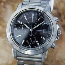 Burberry Swiss Made Men 38mm Stainless Steel Luxury Chronograp...