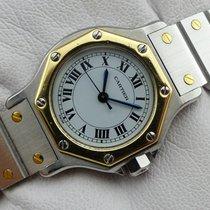 Cartier Santos Octagon Automatique Stahl-Gold - 25 mm