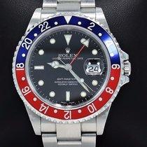 Rolex Gmt Master Pepsi 16710 Blue/red 40mm Steel Oyster Watch...