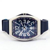 Franck Muller Steel Automatic Blue Roman numerals 41mm new Vanguard