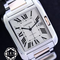Cartier 47mm Automatic 2015 pre-owned Tank Anglaise Silver