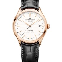 Baume & Mercier Red gold Automatic White 39mm new Clifton