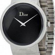 Dior La D De Dior Steel 38mm Black No numerals