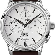 Glashütte Original Senator Chronograph Panorama Date Steel 42mm White United States of America, New York, Airmont
