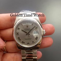 Rolex Day-Date 36 Oro blanco 36mm Plata