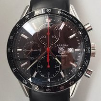 TAG Heuer Carrera Calibre 16 pre-owned 41mm Black Chronograph Date Rubber