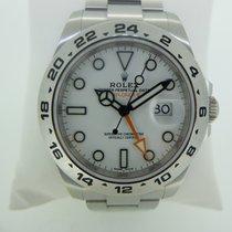 Rolex Explorer II Acier 42mm Blanc Sans chiffres