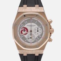 Audemars Piguet Or rose Remontage automatique Blanc Arabes 39mm occasion Royal Oak Chronograph