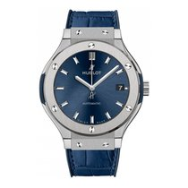 Hublot Classic Fusion Blue Titanium 38mm Blue No numerals United States of America, New York, New York