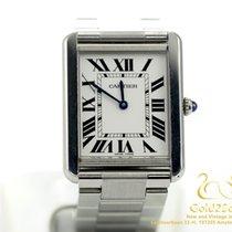 Cartier Tank Solo Steel Large Model Quartz Watch 34x27mm 3169