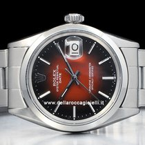 Rolex Oyster Perpetual Date Acier 34mm Rouge