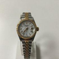 Rolex Ladies DateJust steel gold jubelee bracelet White dial