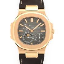 Patek Philippe Rose Gold Nautilus Moonphase Watch Ref. 5712R