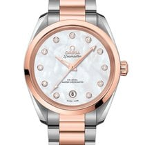 Omega Seamaster Aqua Terra Gold/Steel 38mm Brown
