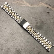 Rolex Gmt 20mm 1675 Watch 14k Yg/steel Oval Link Big Logo...