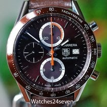 TAG Heuer Carrera Calibre 16 pre-owned 16mm Chronograph Date Tachymeter Leather