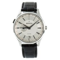 Zenith Steel Automatic Silver No numerals 40mm pre-owned Elite Dual Time
