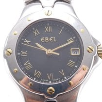 Ebel pre-owned Quartz 27mm Black Sapphire Glass