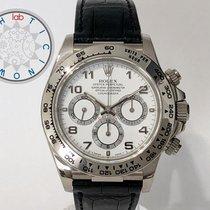 Rolex Daytona Weißgold 40mm Arabisch Schweiz, Chiasso