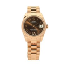 Rolex Datejust Or rose 31mm Brun