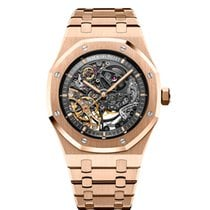 Audemars Piguet Royal Oak Double Balance Wheel Openworked Ροζέ χρυσό 41mm Διαφανές Xωρίς ψηφία