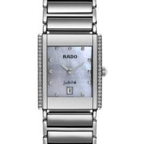 Rado Ceramic 34mm Quartz New $3950 RADO Quartz Diamond Bezel R20673919 Jubile Quartz new