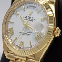 Rolex Day-Date 40 Oro amarillo 40mm Blanco España, Barcelona