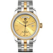 Tudor Glamour Date-Day Gold/Stahl 39mm Champagnerfarben