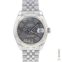 Rolex Lady-Datejust Zlato/Zeljezo 31mm Siv Arapski brojevi