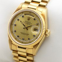 Rolex DAY DATE PRESIDENT 18K GOLD DIAMOND / SAPPHIRE STRING DIAL
