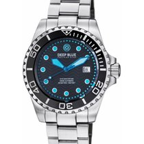 Deep Blue Dive Master 500 Automatic Diving Watch Swiss Mvt Blk...