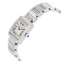 Cartier Tank Francaise Stainless Steel Bracelet Womens Watch...